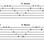 Arpeggios of the Major scale